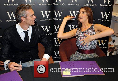 Mark Foster and Lisa Snowdon at a signing...