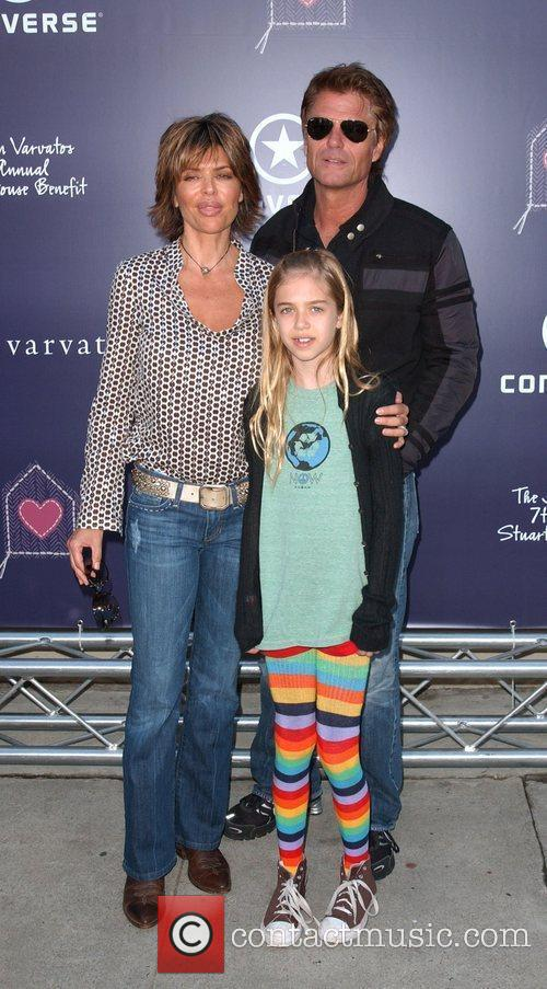 Lisa Rinna and Harry Hamlin and daughter 7th...