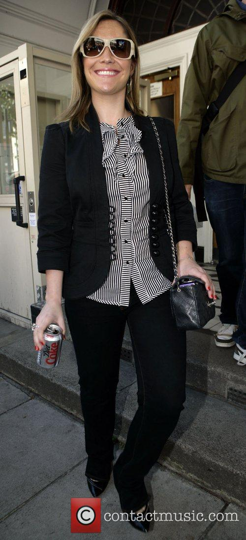 Heidi Range of the Sugababes leaving their recording...