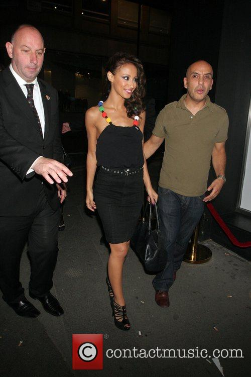 Amelle Berrabah of the Sugababes  leaving their...