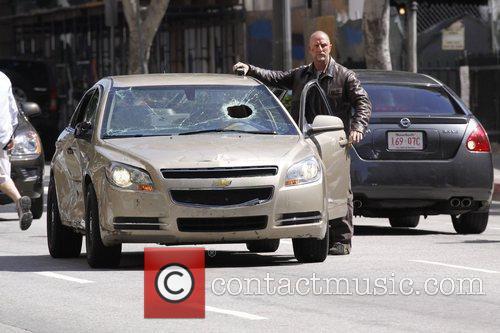 Action star Bruce Willis' new movie Surrogates filmed...