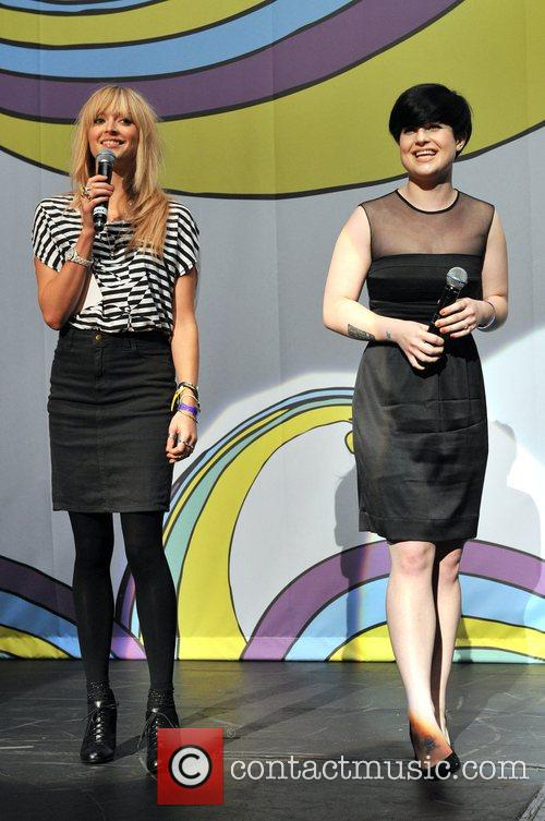 Fearne Cotton and Kelly Osbourne BBC Switch Live...