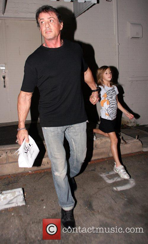 Sylvester Stallone leaving his office in Beverly Hills...