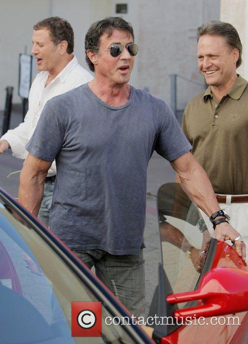 Frank Stallone and Sylvester Stallone and friends have...