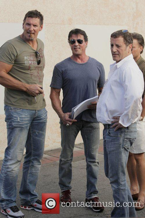 Sylvester Stallone and Frank Stallone and friends have...