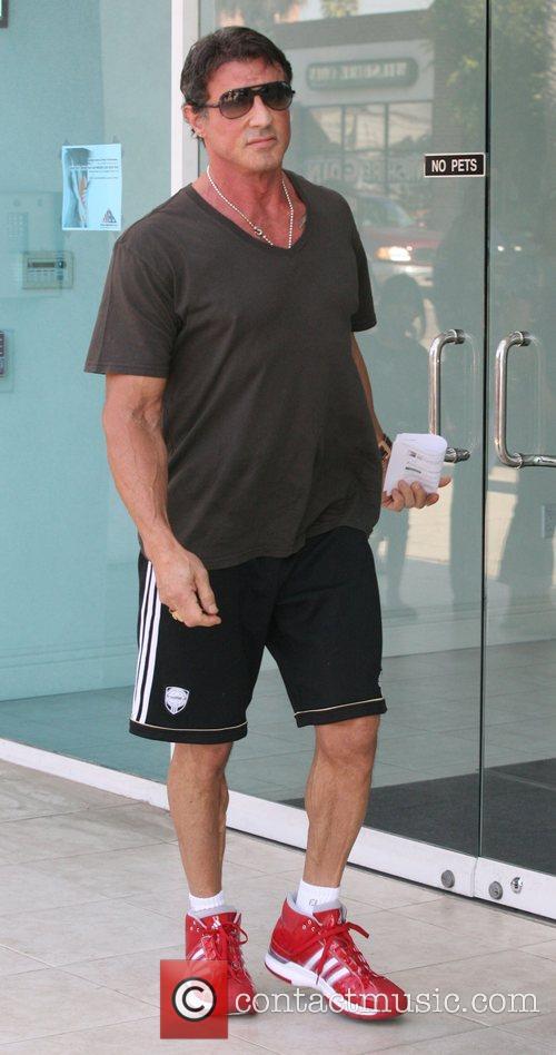 Sylvester Stallone  visiting a Santa Monica Clinic....