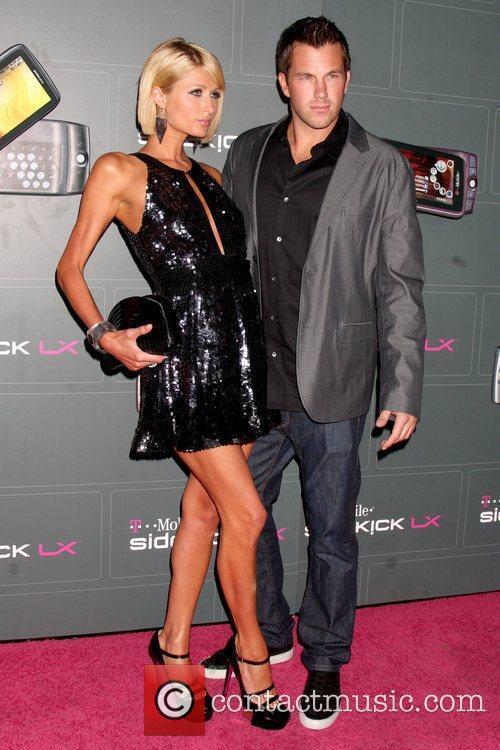 Paris Hilton and Doug Reinhardt T-Mobile Sidekick LX...