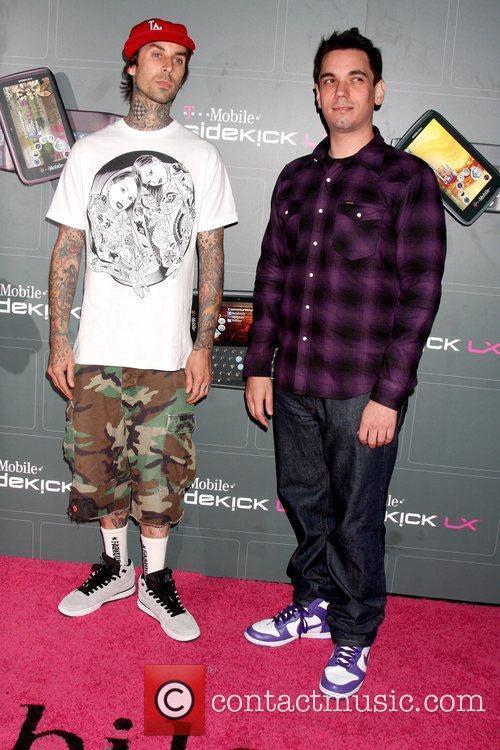 Travis Barker and DJ AM T-Mobile Sidekick LX...