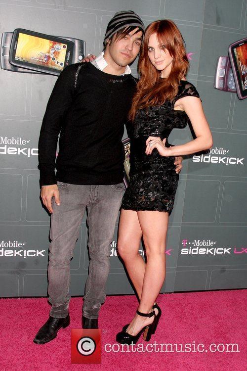 Pete Wentz and Ashlee Simpson-Wentz T-Mobile Sidekick LX...