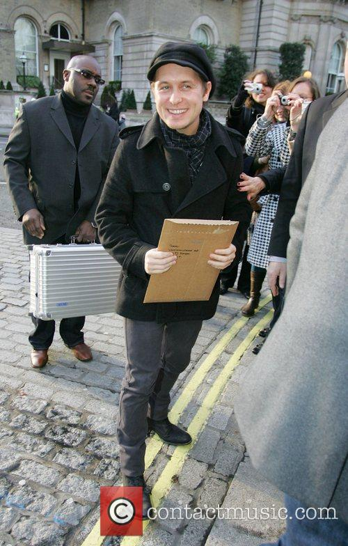Mark Owen Take That members arriving at the...