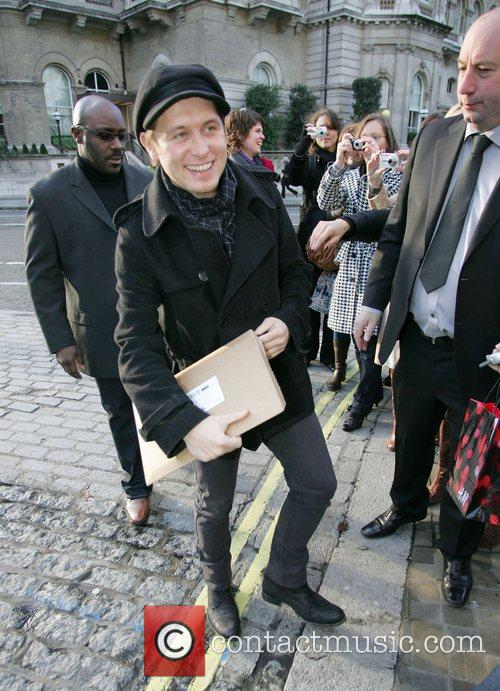 Take That members arriving at the BBC Radio...