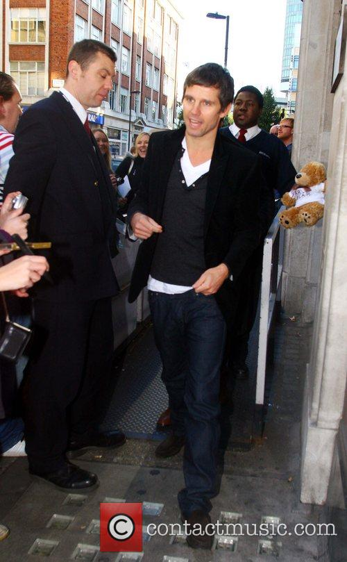 Jason Orange leaving the BBC Radio 1 studios...