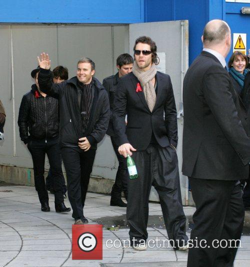 Mark Owen, Howard Donald, Jason Orange and Gary Barlow Leaving The Bbc Radio 2 Building 5