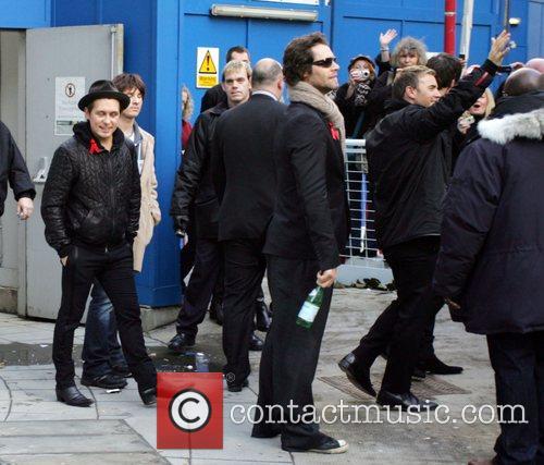 Mark Owen, Howard Donald and Gary Barlow Leaving The Bbc Radio 2 Building 4