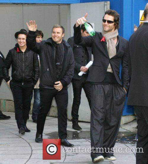Mark Owen, Howard Donald, Jason Orange and Gary Barlow Leaving The Bbc Radio 2 Building 1
