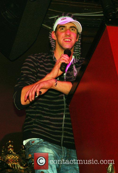 Michael Phelps partying at TAO Nightclub inside the...