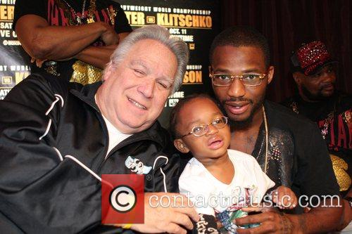 Promoter Gary Shaw poses with Chad Dawson and...