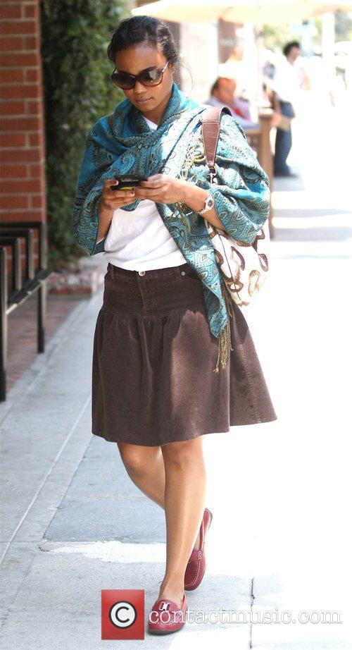 Actress and singer Tatyana Ali visits the Beverly...