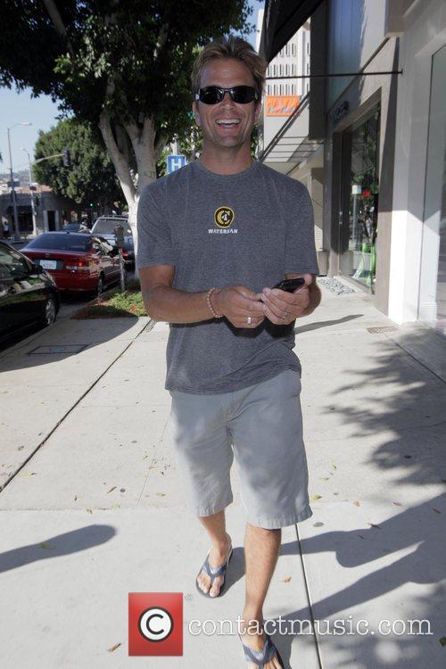 David Chokachi filming for 'Teen Idol' on Robertson...