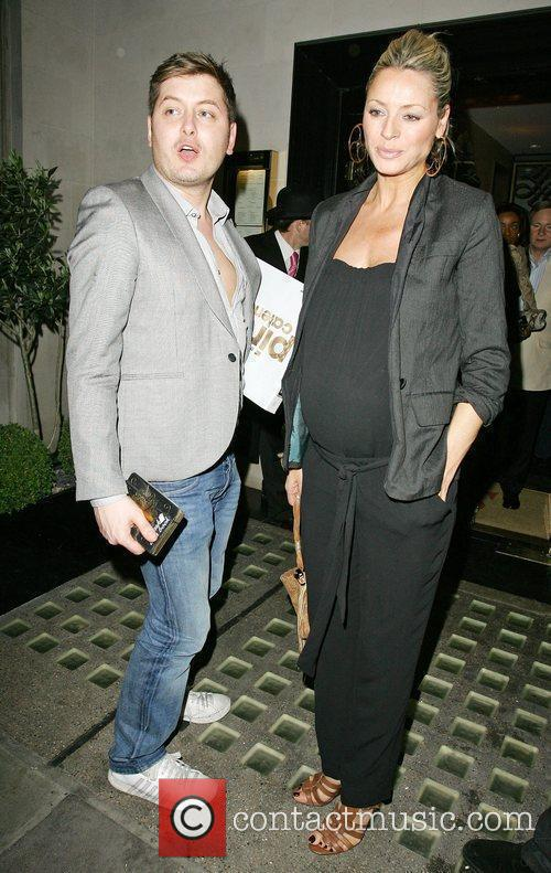 Pregnant Tess Daly, with Brian Dowling, leaving Scott's...
