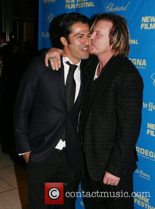Armin Amiri and Mickey Rourke The 46th New...