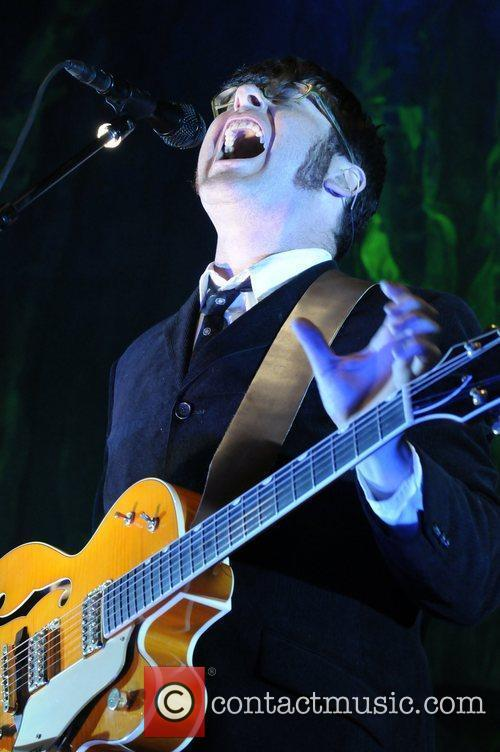 Colin Meloy of The Decemberists performing live at...