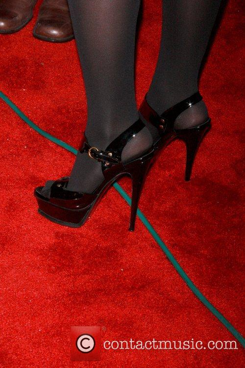 Lauren 'Lo' Bosworth shows off her shoes as...