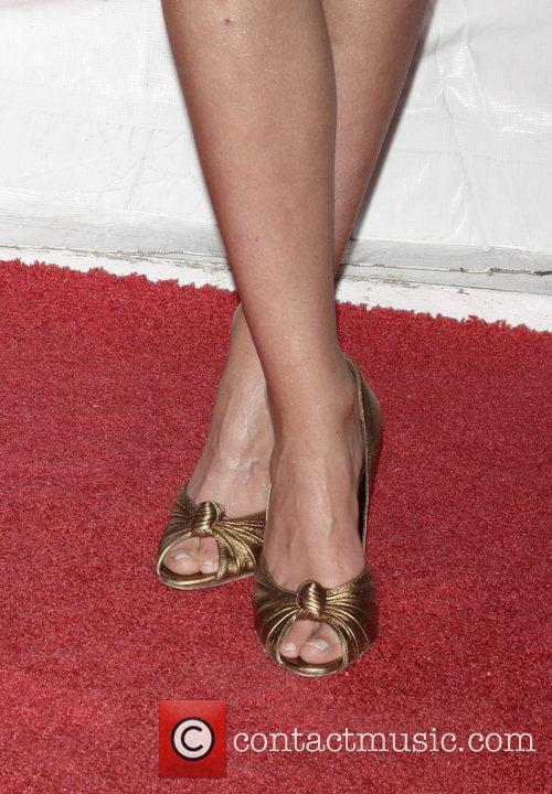 Katrina Bowden shows off her shoes at Cinema...