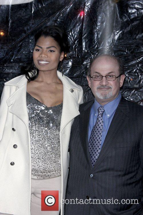 Salman Rushdie and Pia Glenn at Cinema Society...