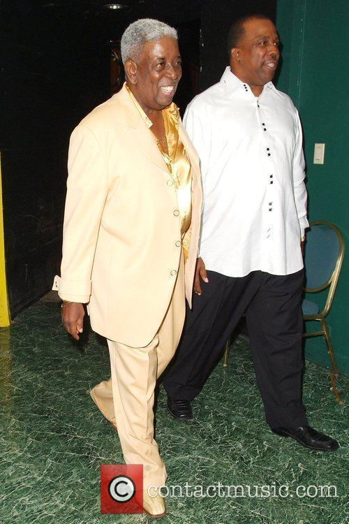 Blue Lovett and guest The Manhattans performing at...