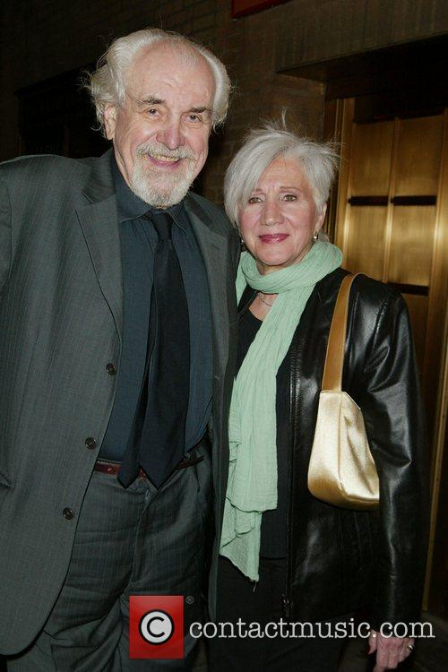 Louis Zorich and his wife Olympia Dukakis Opening...