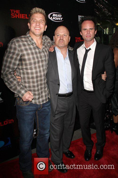 Kenny Johnson, Michael Chiklis and Walton Goggins Screening...