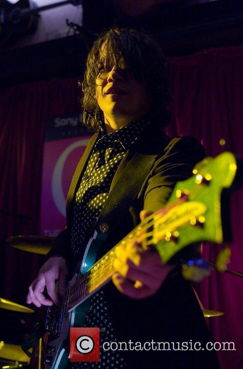 Kieren Webster, bassist of The View performs for...