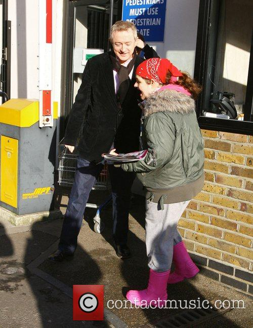 Louis Walsh leaving the ITV studios on the...