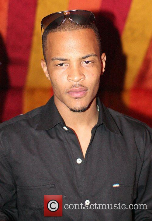 T.I. attends his album release party at the...