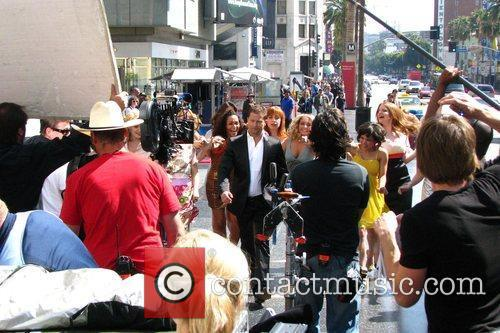 German actor Til Schweiger filming his reality TV...