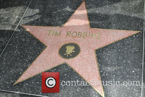 Tim Robbins is honoured with with a star...