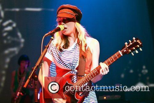 Katie White Ting Tings performing live at Brixton...