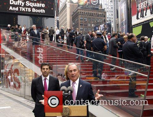 Tim Tompkins and Mayor Michael Bloomberg at the...