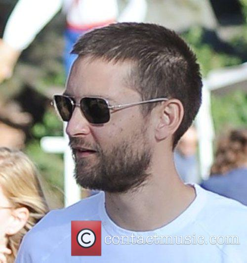 8Tobey Maguire at pumpkin patch at West Hollywood....
