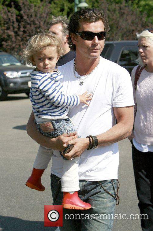 Gavin Rossdale with his son Kingston at Mr....