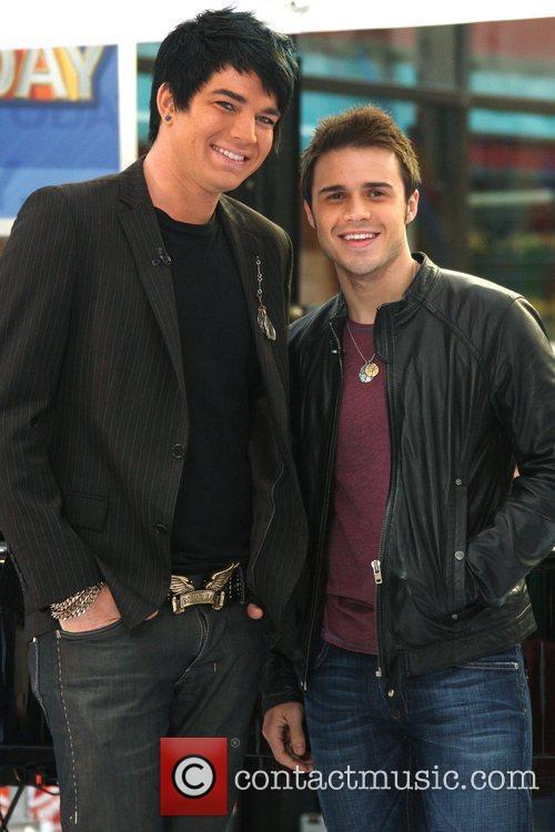 'American Idol' runner-up Adam Lambert and winner Kris...
