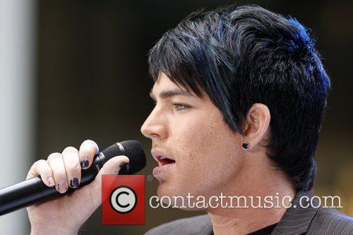 'American Idol' runner-up Adam Lambert  performing live...