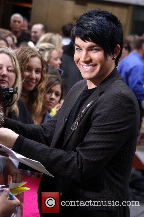 'American Idol' runner-up Adam Lambert signs autographs after...