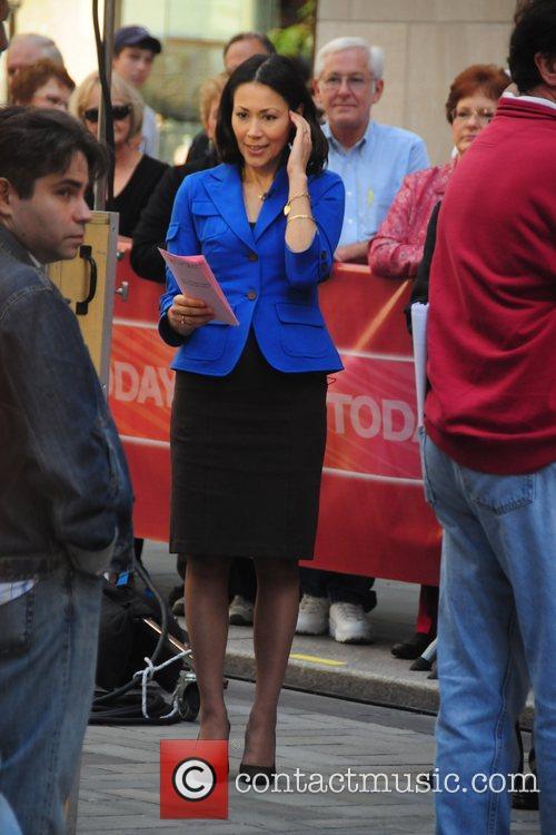 Ann Curry shooting a segment of NBC's 'The...