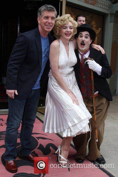 Tom Bergeron poses with Marilyn Monroe & Charlie...