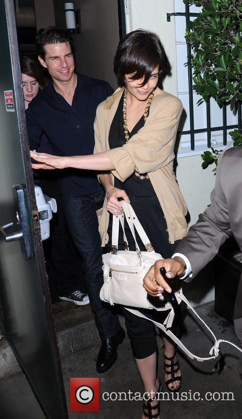 Tom Cruise and Katie Holmes leaving El Sole...