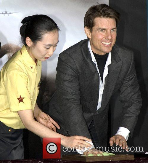 Tom Cruise during his hand-printing ceremony Seoul, South...