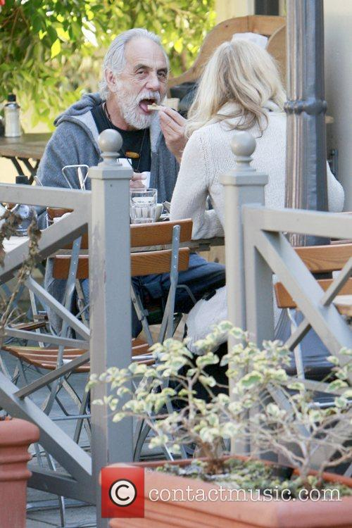 Tommy Chong having lunch in Brentwood with his...