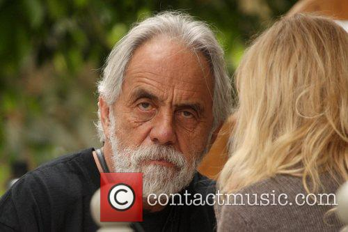 Tommy Chong comedian eating lunch at Le Pain...